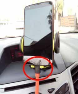 Rock phone stand car USB